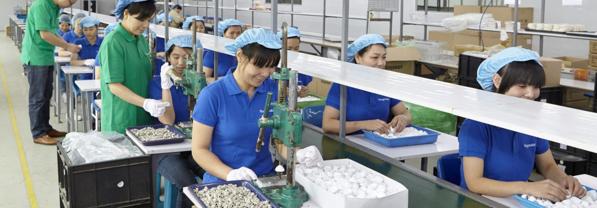 Productie en assemblage in China